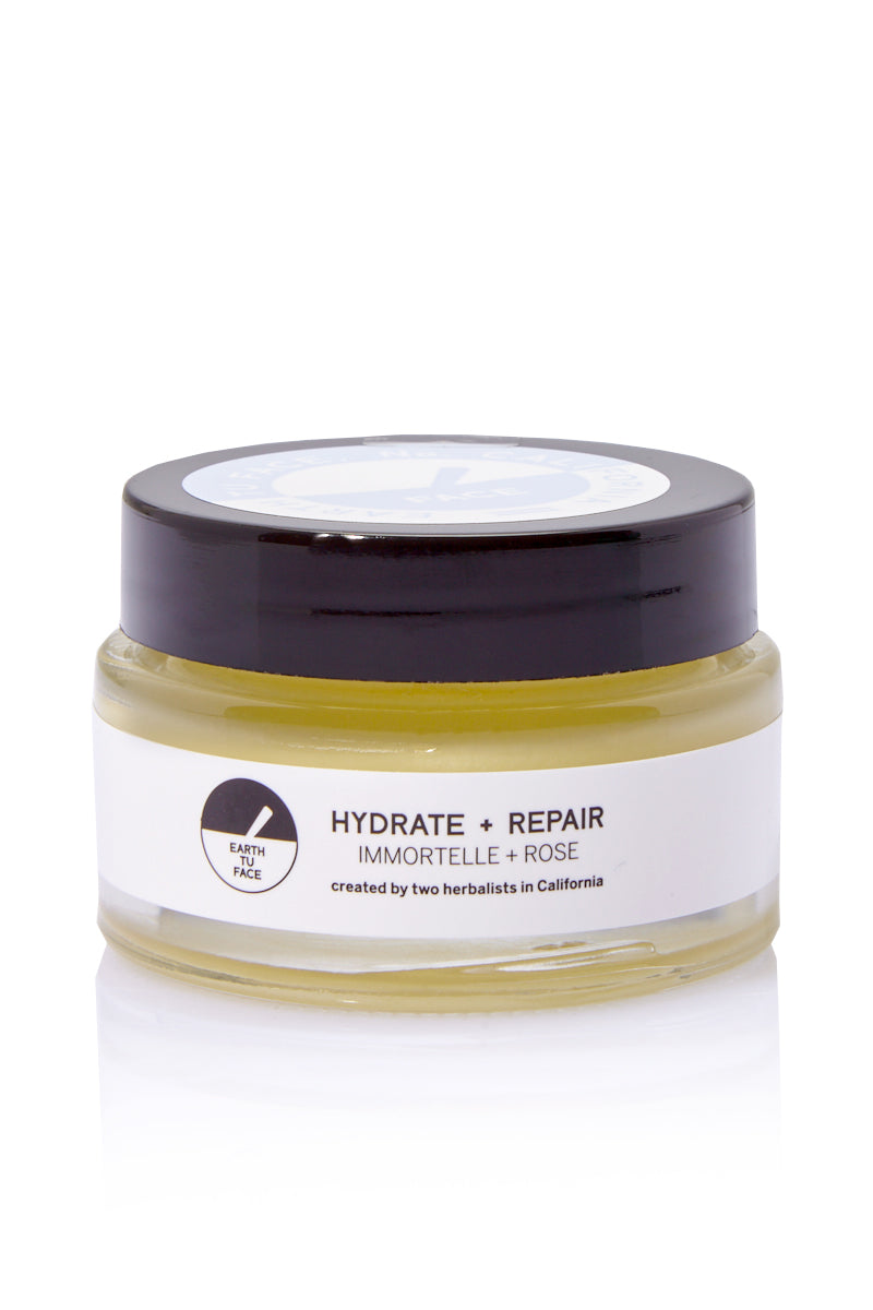 EARTH TU FACE Face Balm - .9 oz Beauty | EARTH TU FACE Face Balm - .9 oz A delicate blend of Immortelle flowers, Rose Petals and Australian sandalwood in an organic cream base. This formula offers the richest hydration for facial skin and intensive tissue repair. Even the driest of skin will be quenched at the cellular level by premium repair cream.