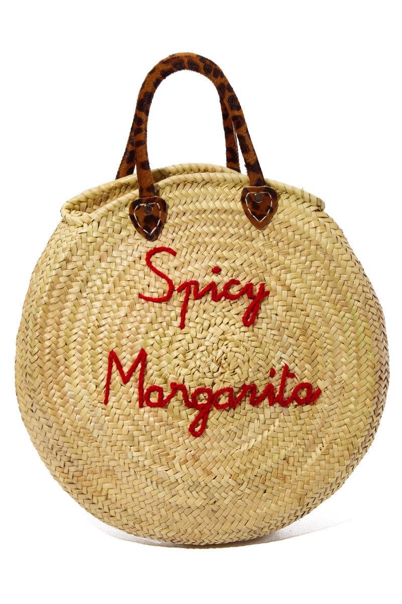Straw Circle Bag - Spicy Margarita