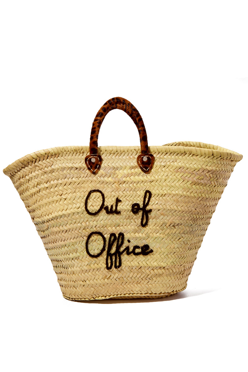 Large Straw Tote - Out of Office