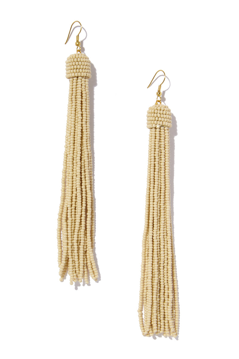 Tassel Earrings - Ivory