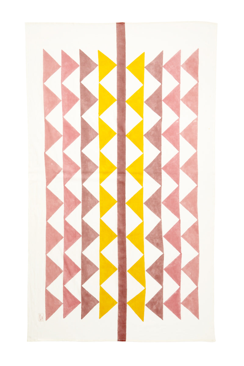 Block It Scarf - Jaipur Pink & Yellow