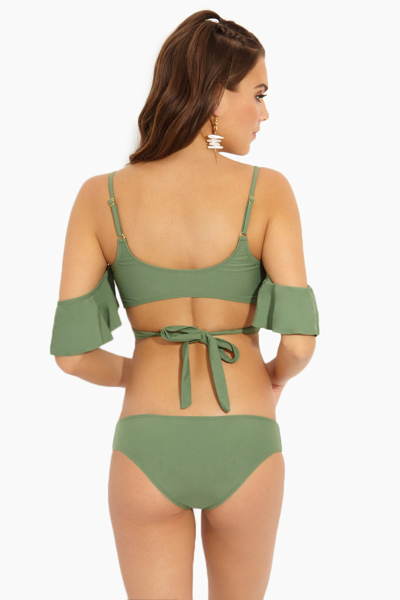 Cut Out Cheeky Bikini Bottom - Matcha Green Latte