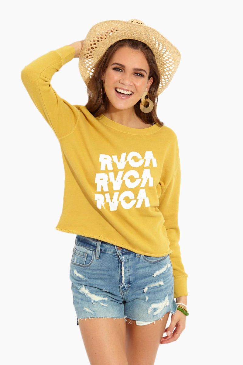Slice RVCA Sweatshirt - Harvest Gold