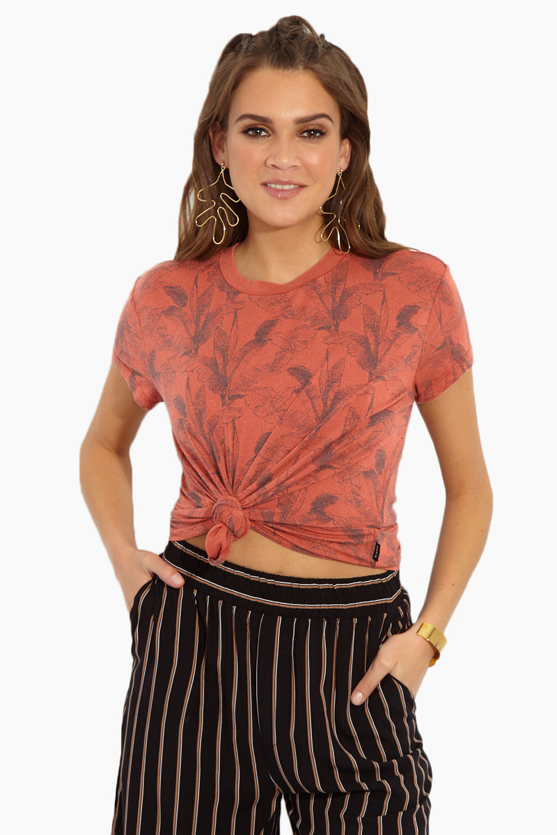 Suspension T-Shirt - Red Clay Tropical Print
