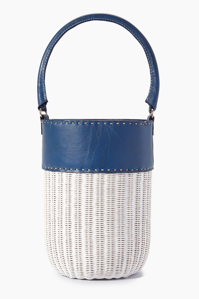 Lucie Bucket Tote - Navy/White