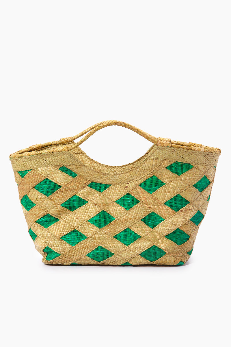 Liliana Mini Tote - Talunay Diagonal Weave Green