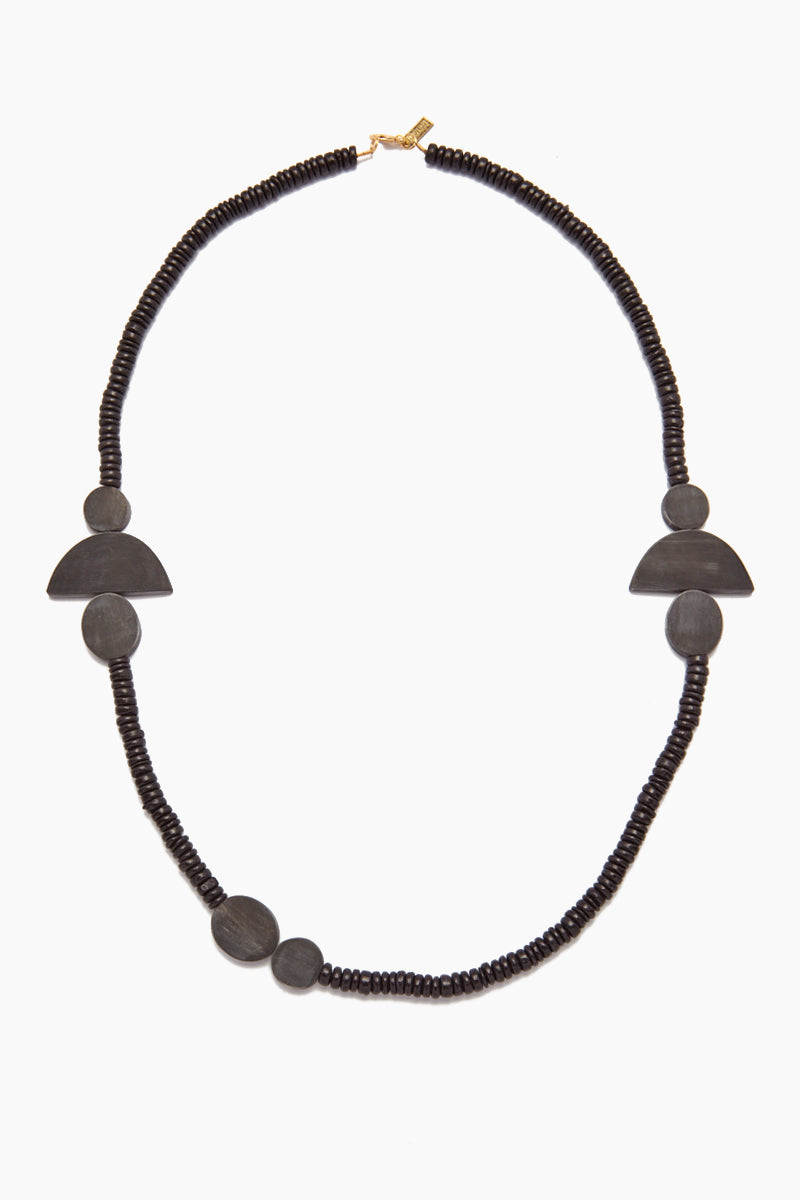 Black Horn Geometic Necklace - Black Coconut