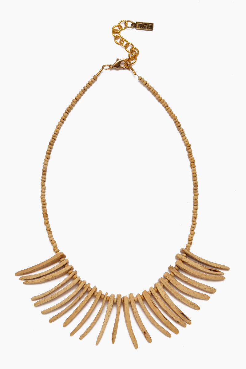 Coconut Sticks Necklace - Natural
