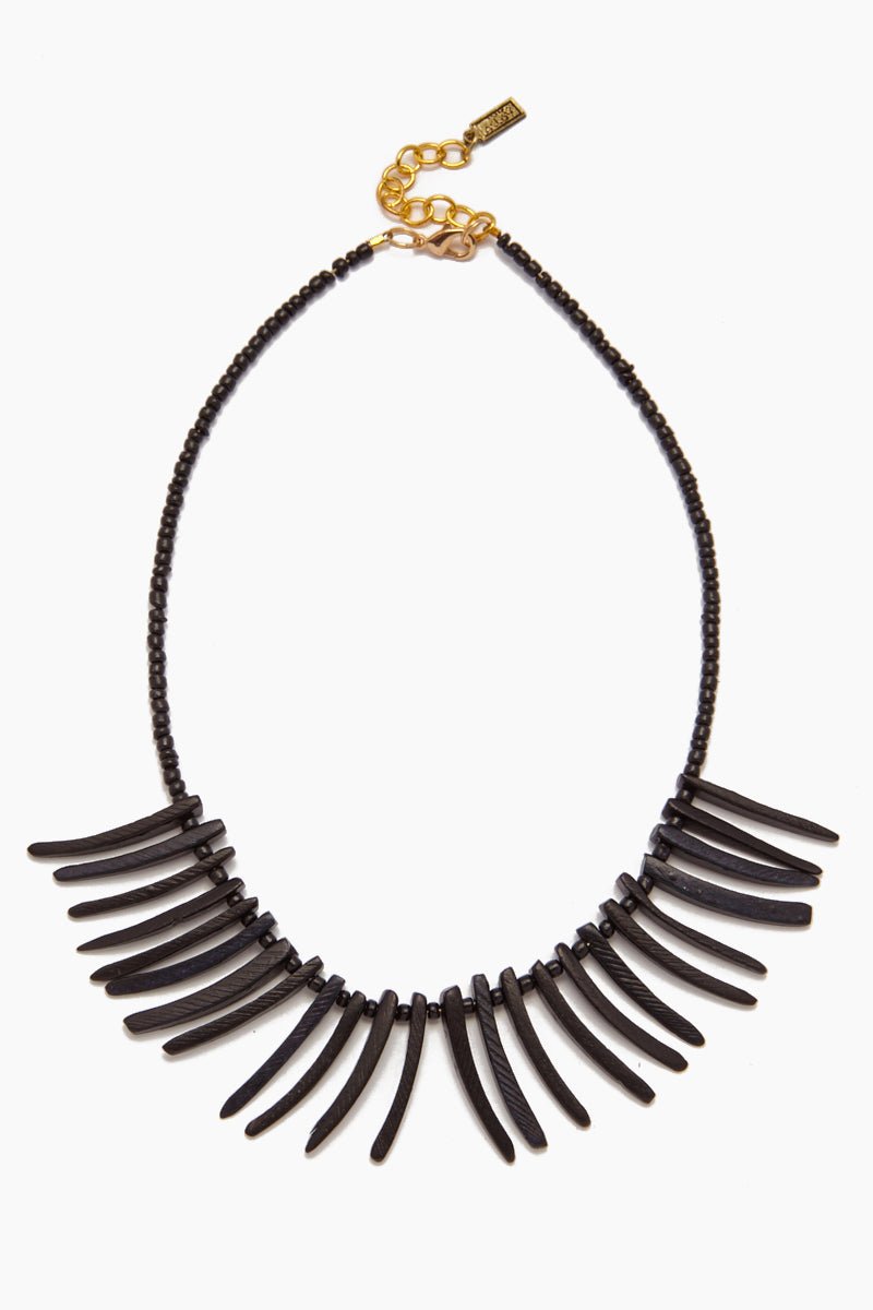 Coconut Sticks Necklace - Black