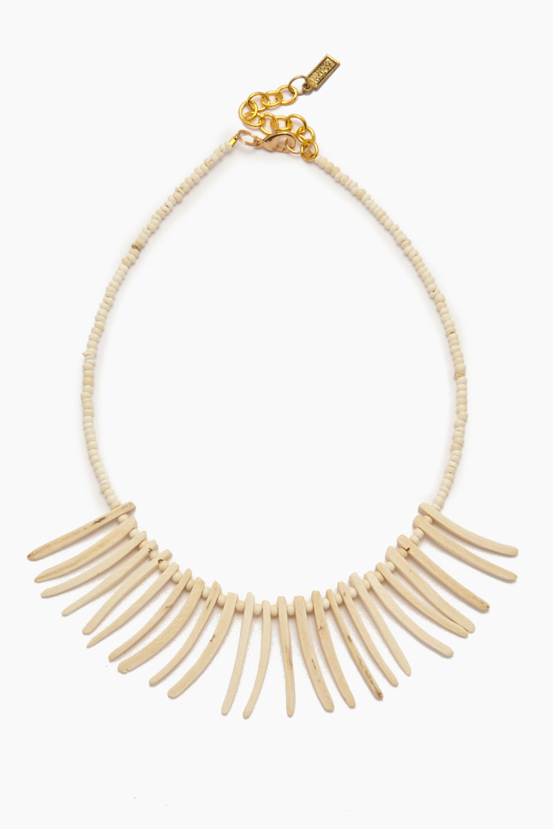 Coconut Sticks Necklace - White