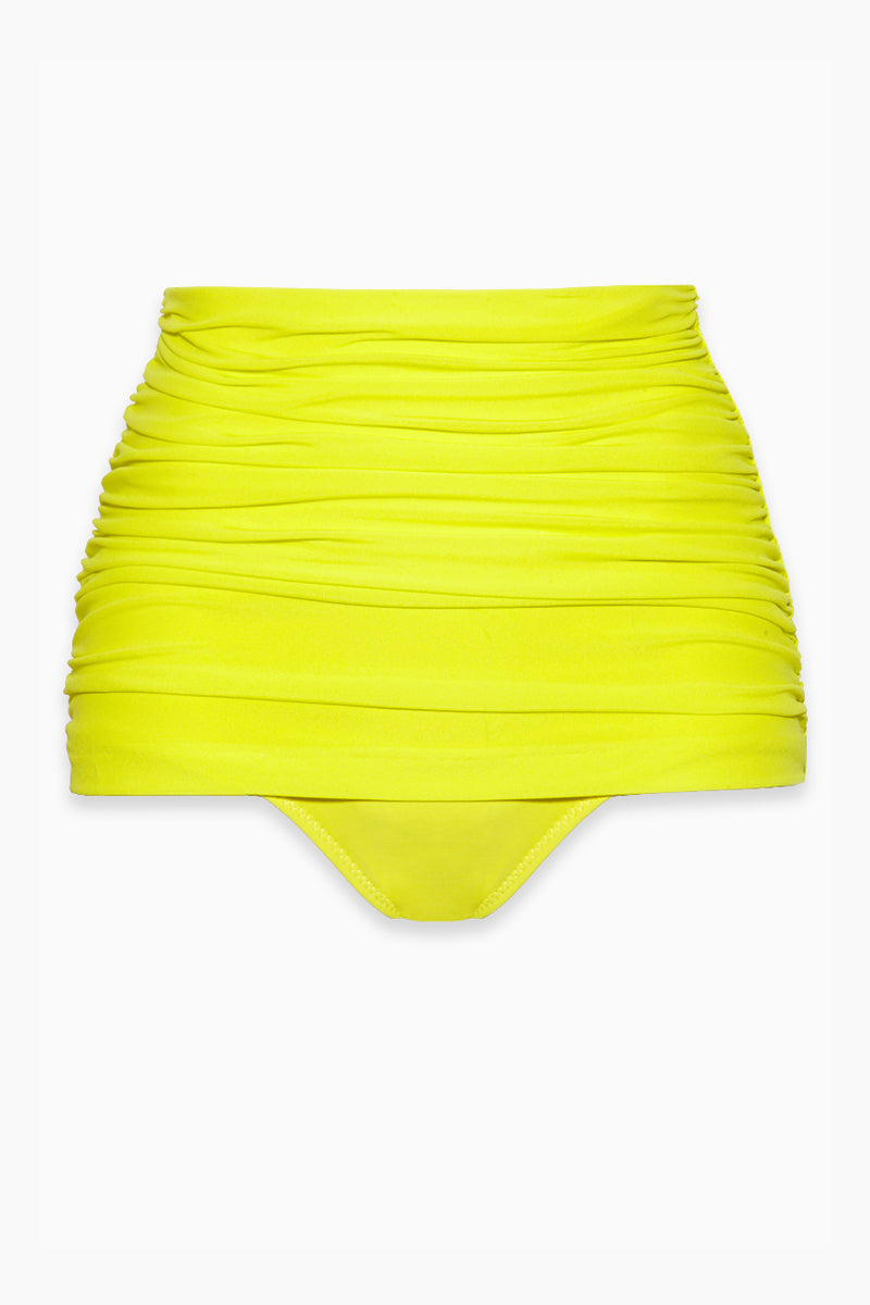 Bill High Waist Bikini Bottom - Acid Yellow
