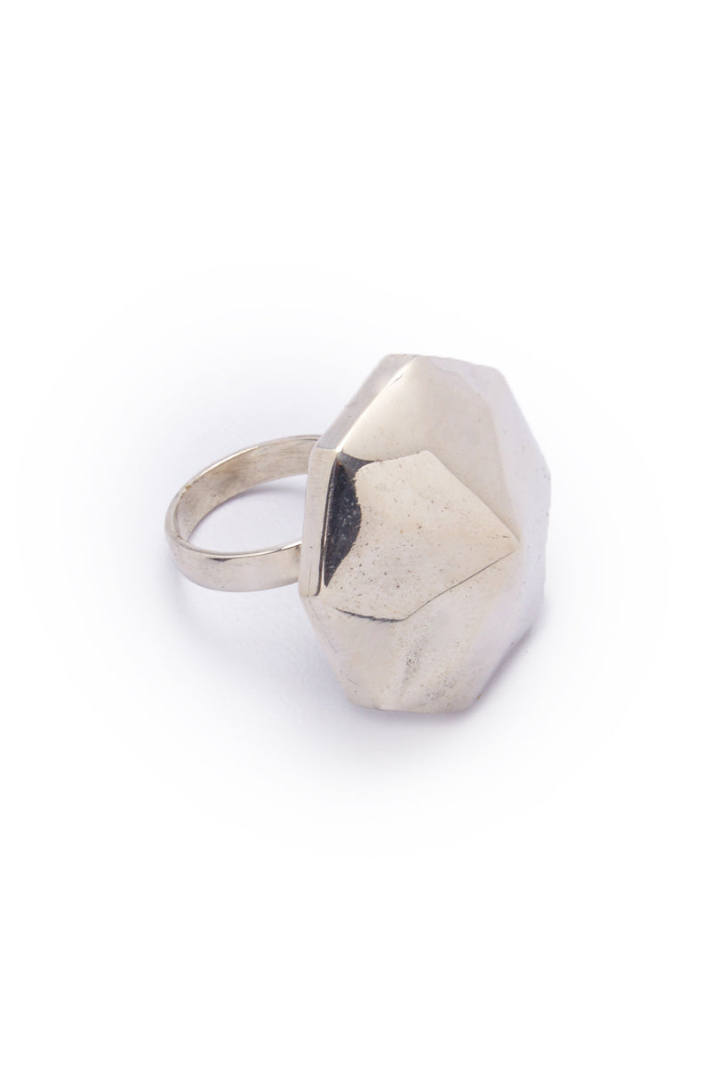 Danika Pyramid Statement Silver Ring