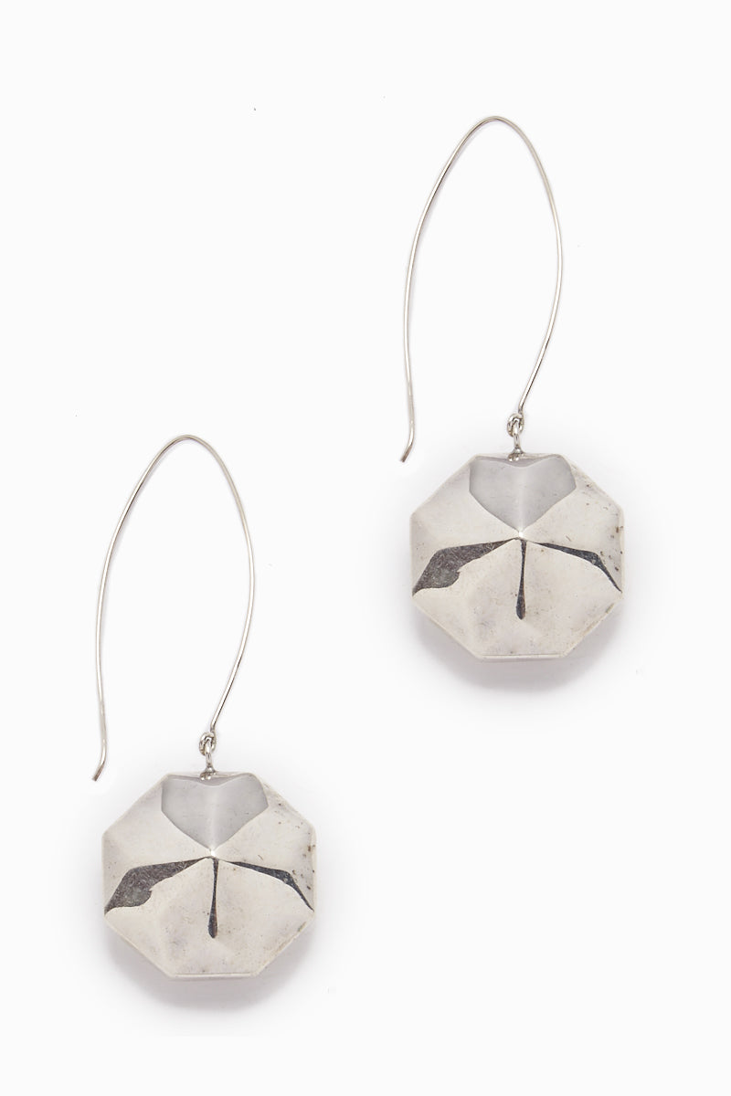 Mattie Silver Disc Dangle Earrings