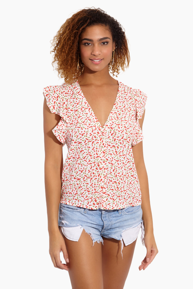 Betsy Blouse - Sweet Cherry Pie