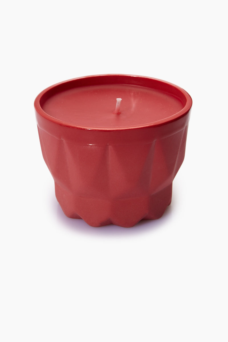 Porcelain Candle - Red