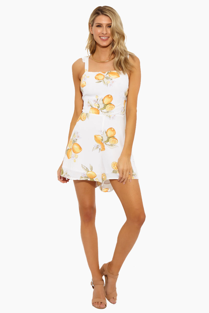 Lemonade Romper - Lemon