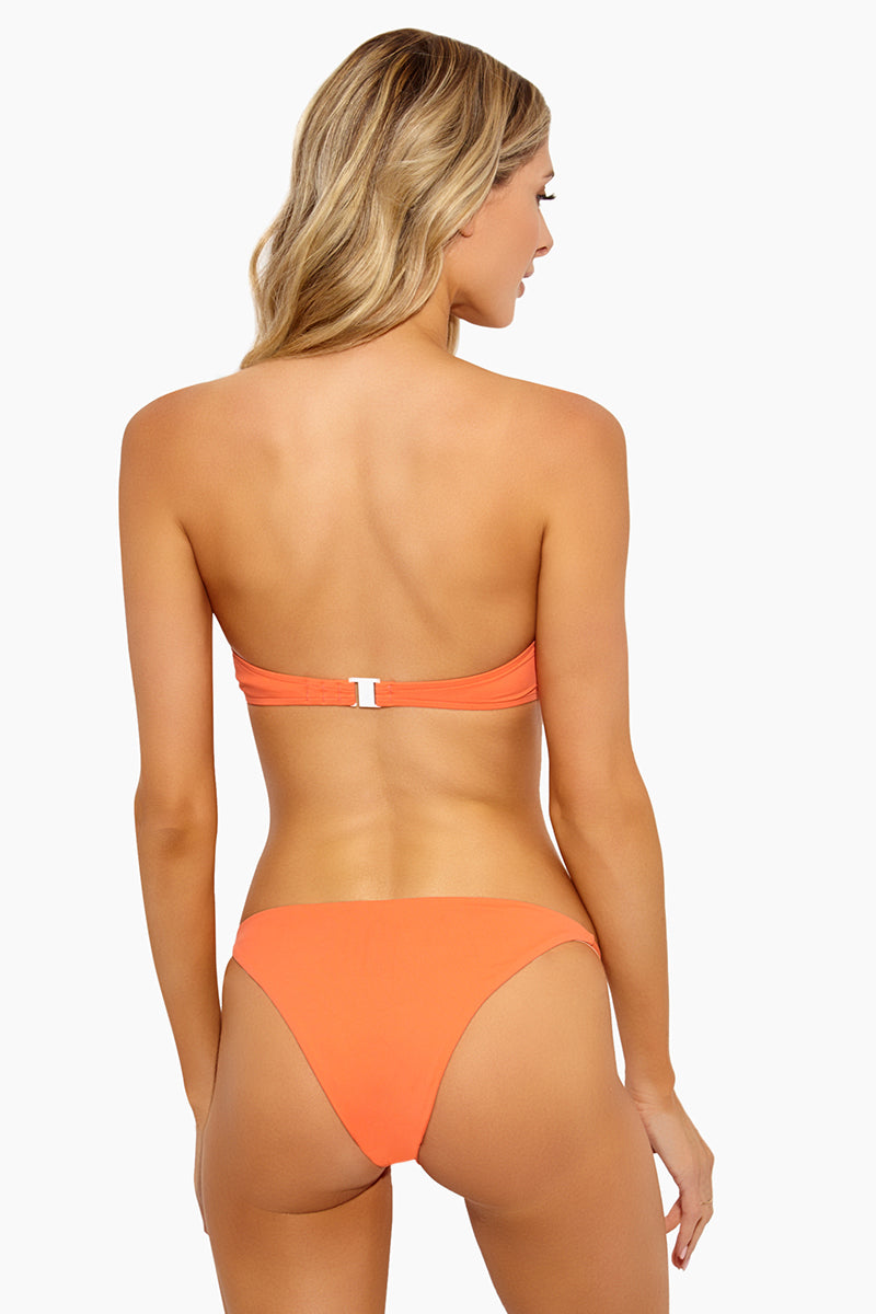 Rochelle Thin Side Strap Bikini Bottom - Sunrise
