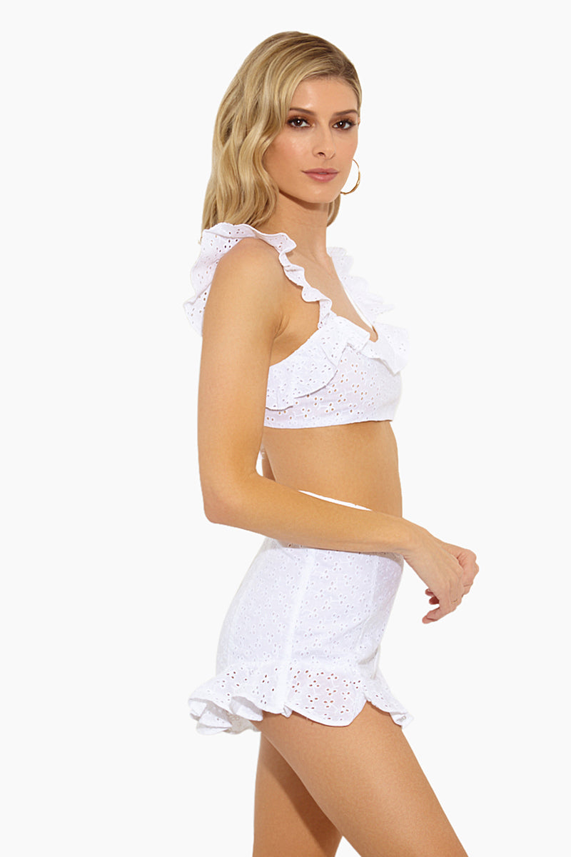df247d960a2fe ... LOLLI Baby Sweetheart Neck Eyelet Bralette Ruffle Cropped Top - Doile -  undefined undefined