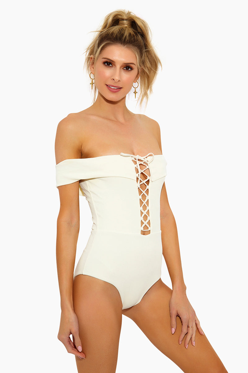 70aa187eb4c ... L SPACE Anja Off Shoulder One Piece Swimsuit - Cream - undefined  undefined