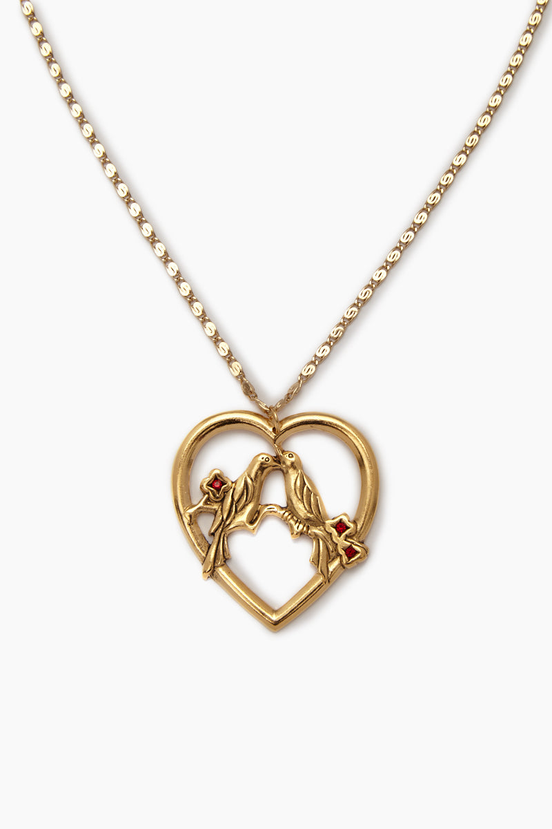 The Love Bird Necklace - Gold