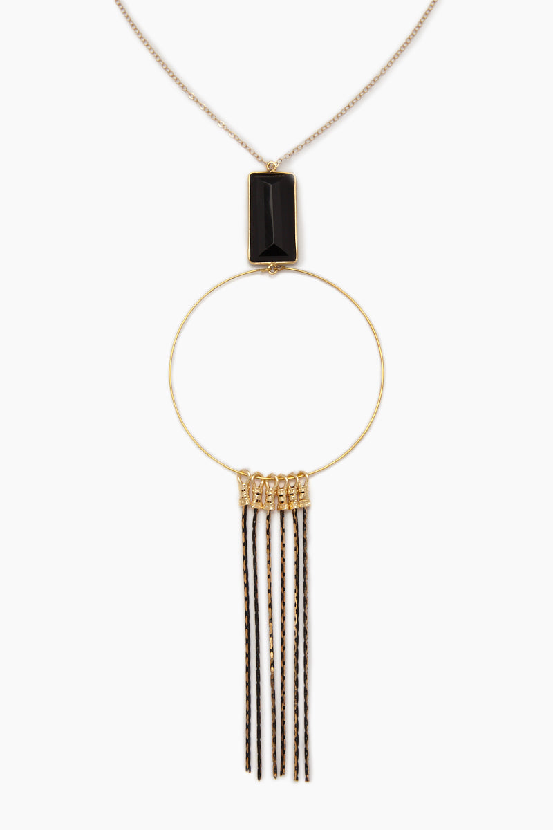 The Gwen Necklace - Gold/Black