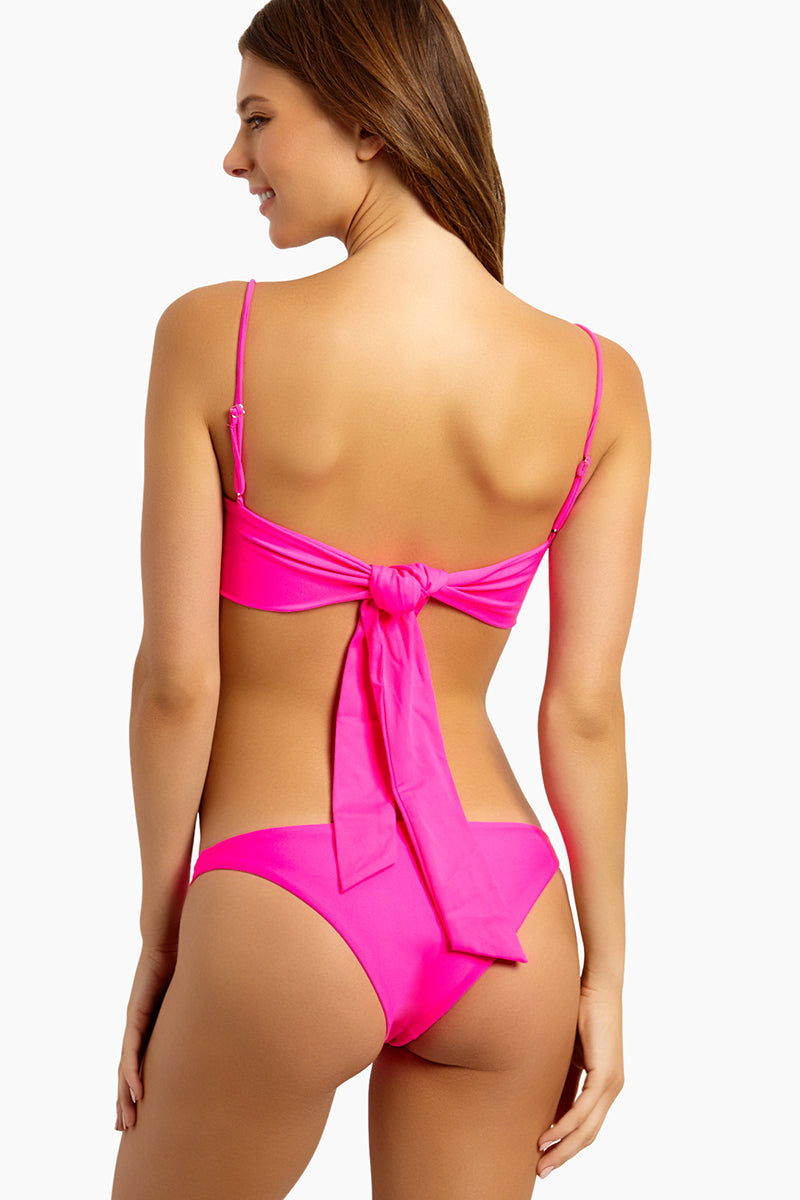 Brief Cheeky Bikini Bottom - Neon Pink