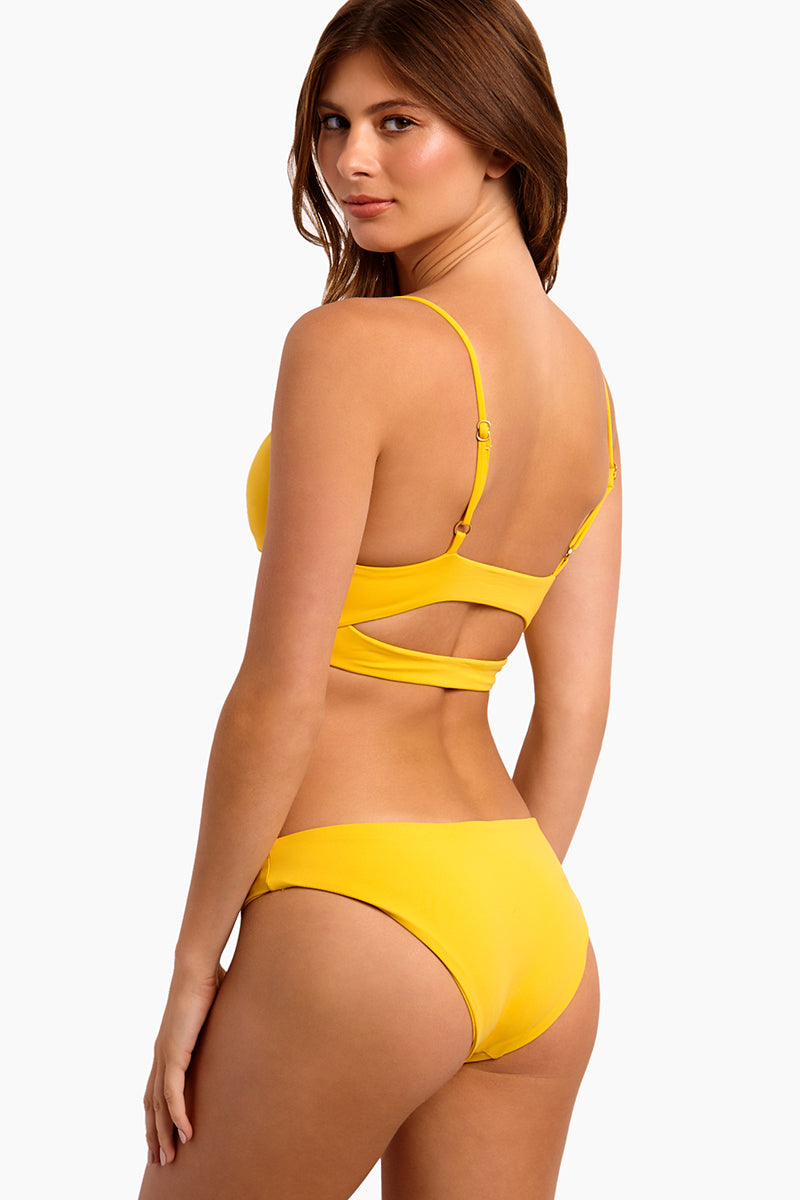 Sandy Hipster Bikini Bottom - Sunshine Gold