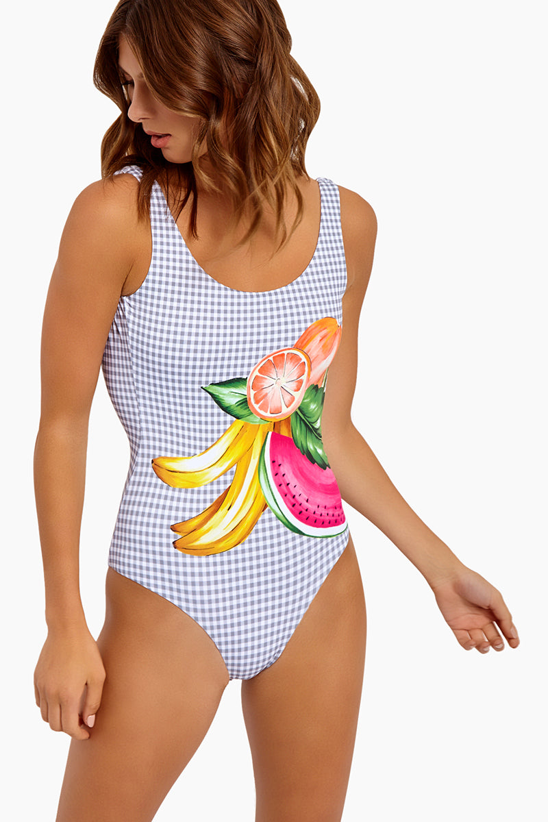 ada8d02d88 ... ONIA Kelly Scoop Back One Piece Swimsuit - Mixed Fruit Navy Gingham -  undefined undefined
