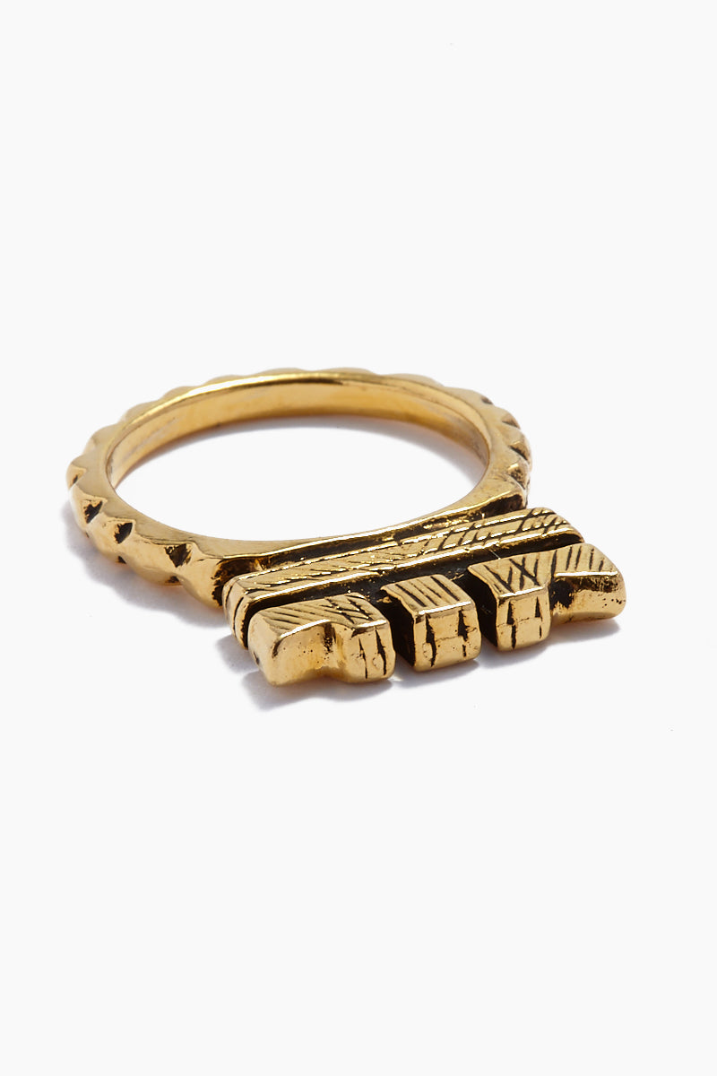 """Fight The Power """"C"""" Ring - Gold"""