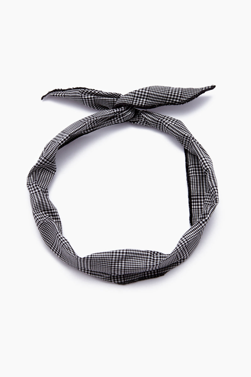 Brooke Headband - Black & White Gingham Print