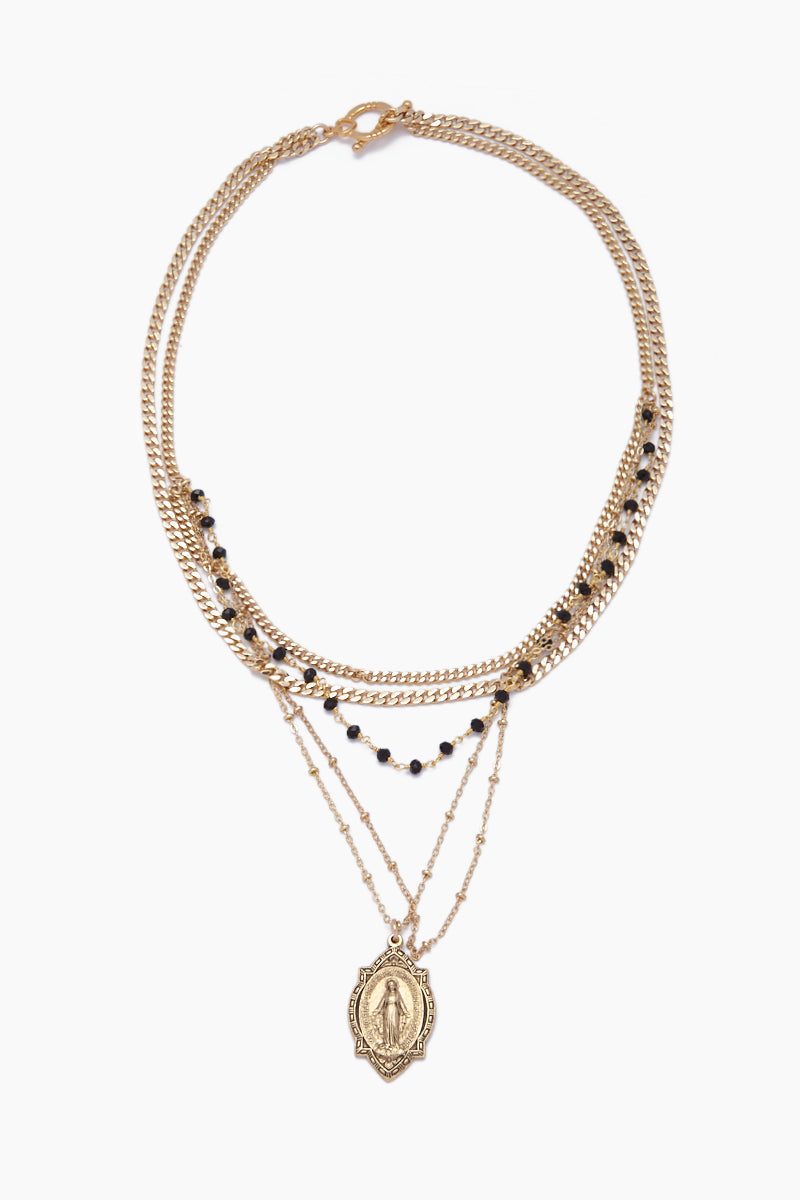Mary Magdeline Necklace - Black Onyx