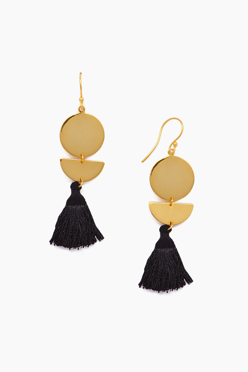 Lillia Earrings - Gold/Black