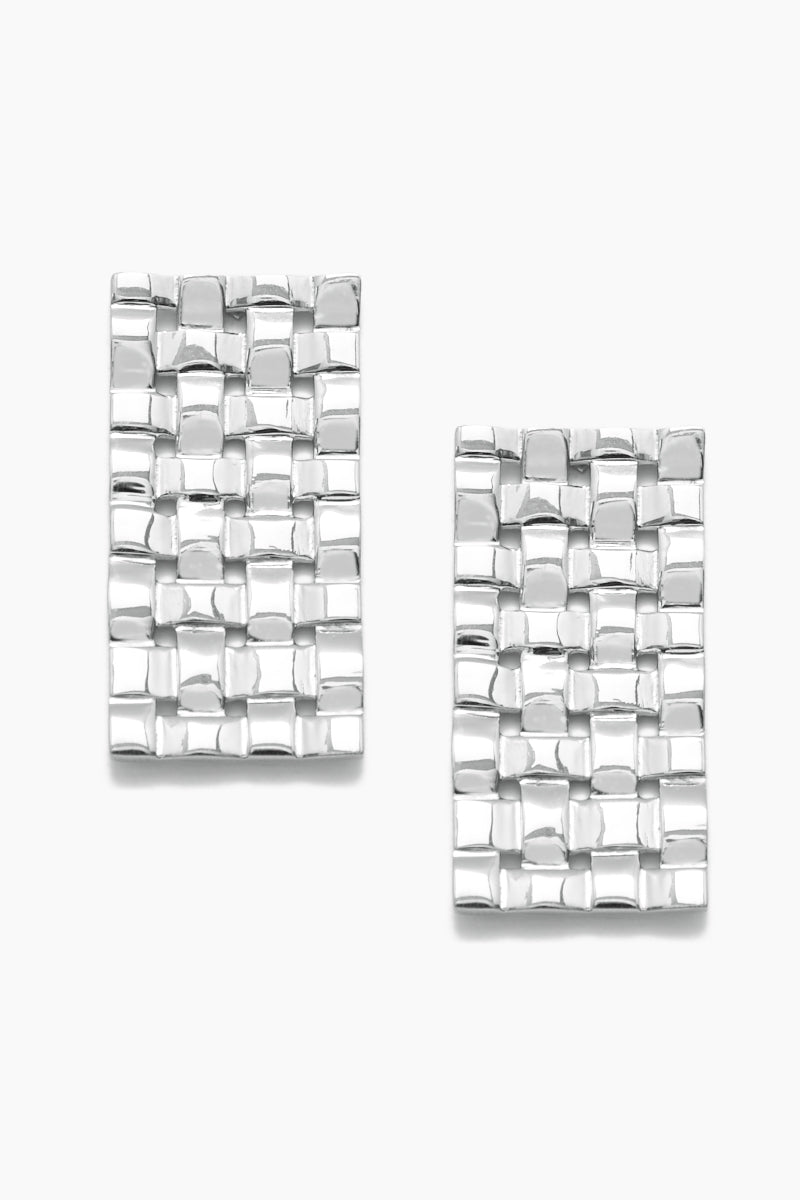 Interlaced Earrings - Silver
