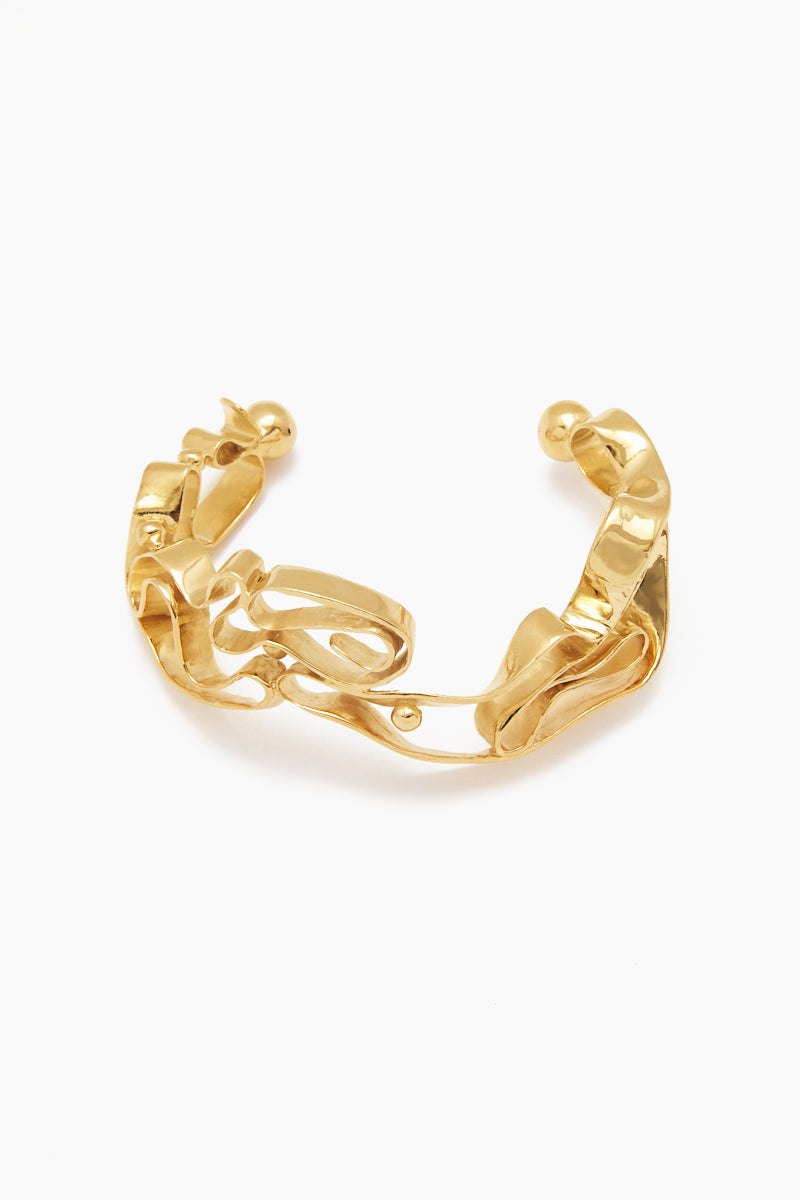 Winding Solid Bracelet - Yellow Gold