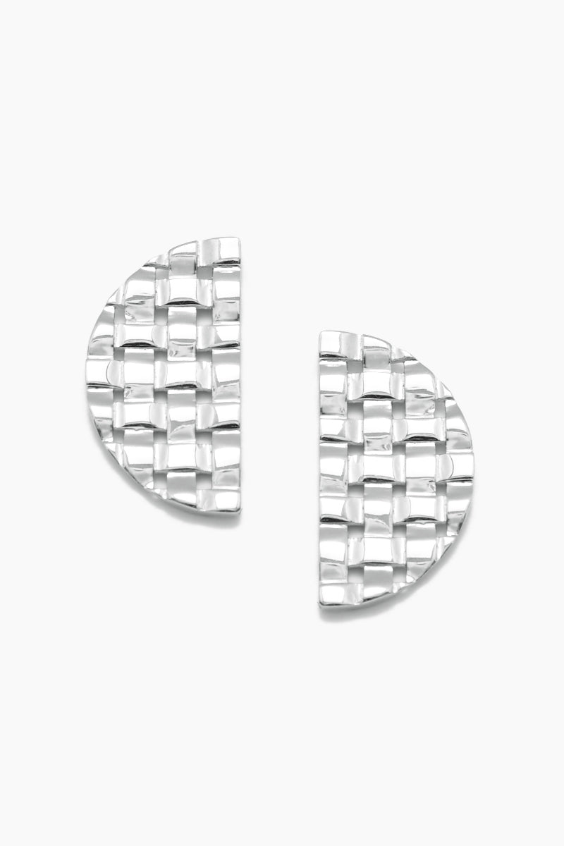 Interlace Stud Earrings - Silver