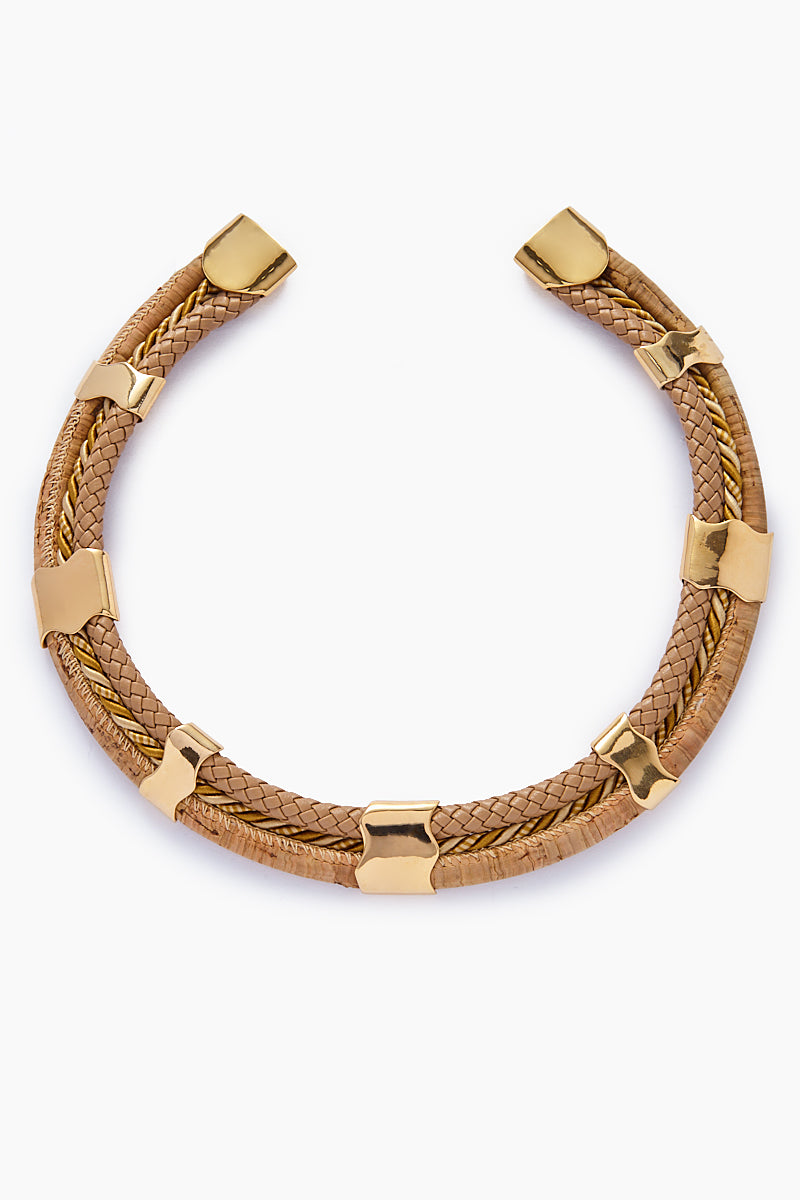Twined Cord Necklace - Gold