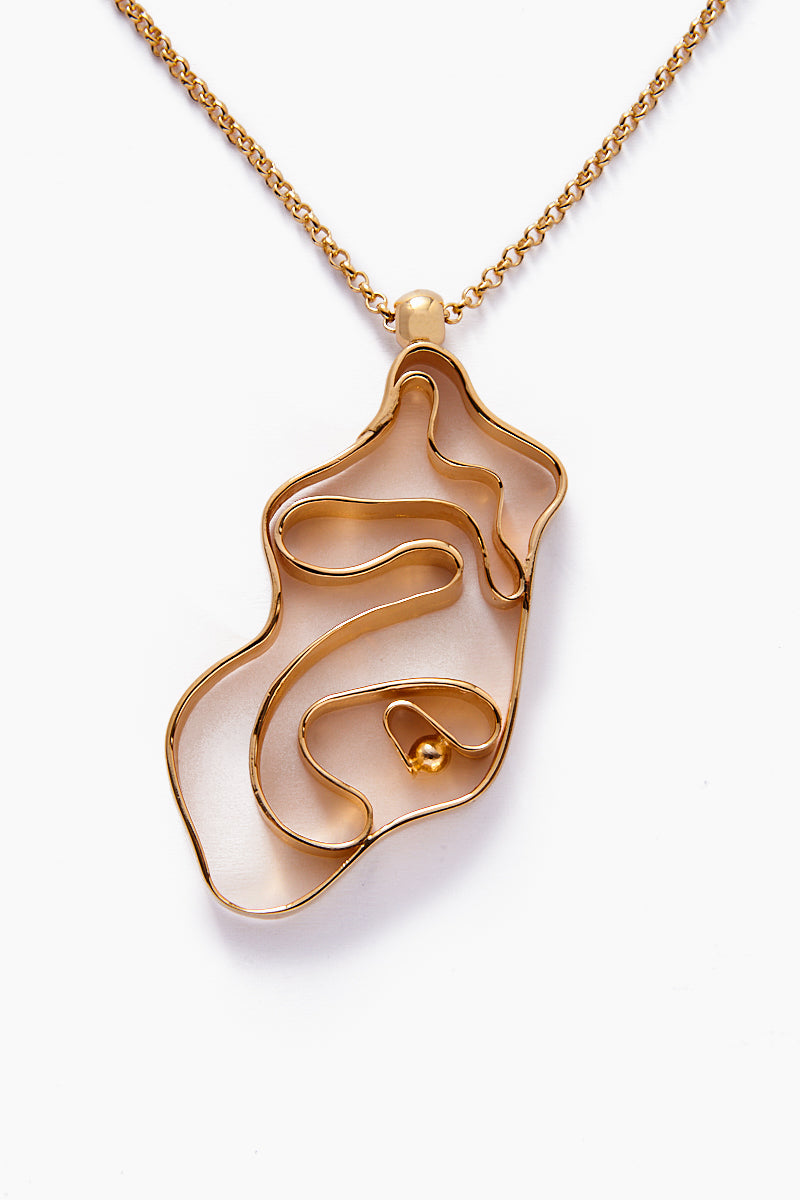 Vintage Whirlpool Necklace - Yellow Gold