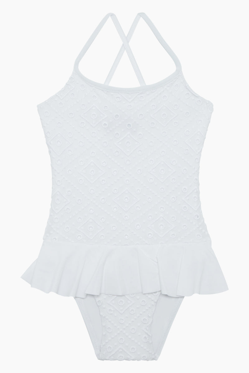 Grilly Ballerina One Piece Swimsuit (Kids) - Blanc White