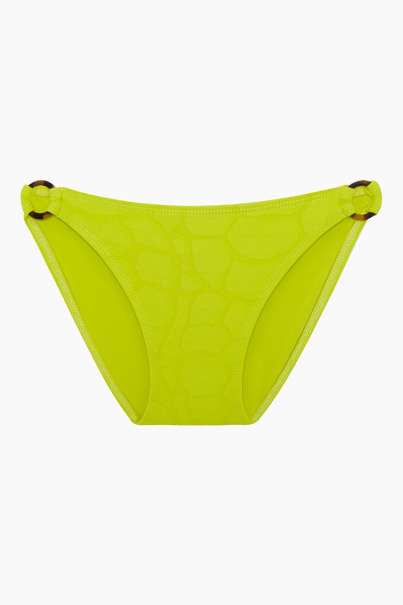 Ginneau Side Rings Bikini Bottom (Kids) - Chartreuse