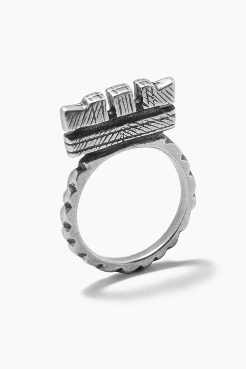 """Fight The Power """"C"""" Ring - Silver"""