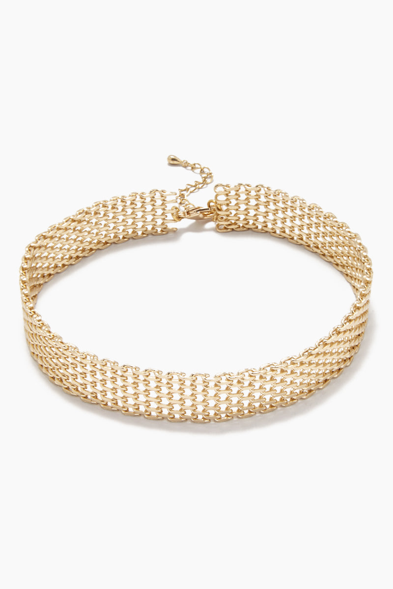 We Mesh Well Choker - Gold