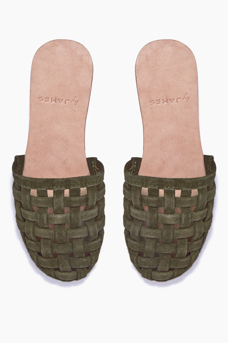 Cage Strappy Sandals - Olive