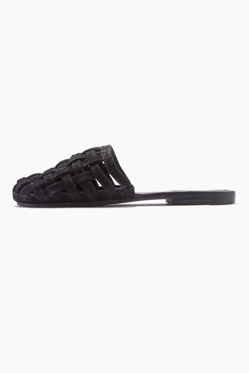 Cage Strappy Sandals - Black