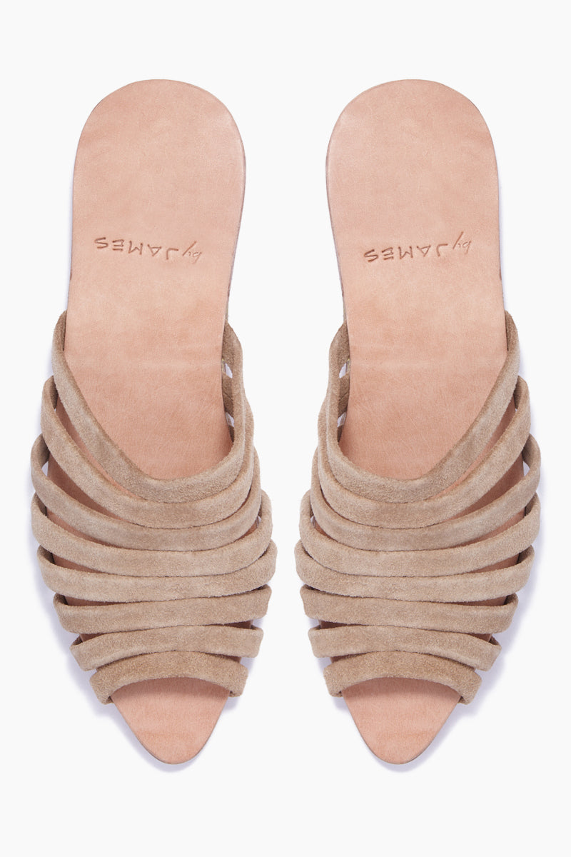Lynne Pointed Toe Sandals - Nude