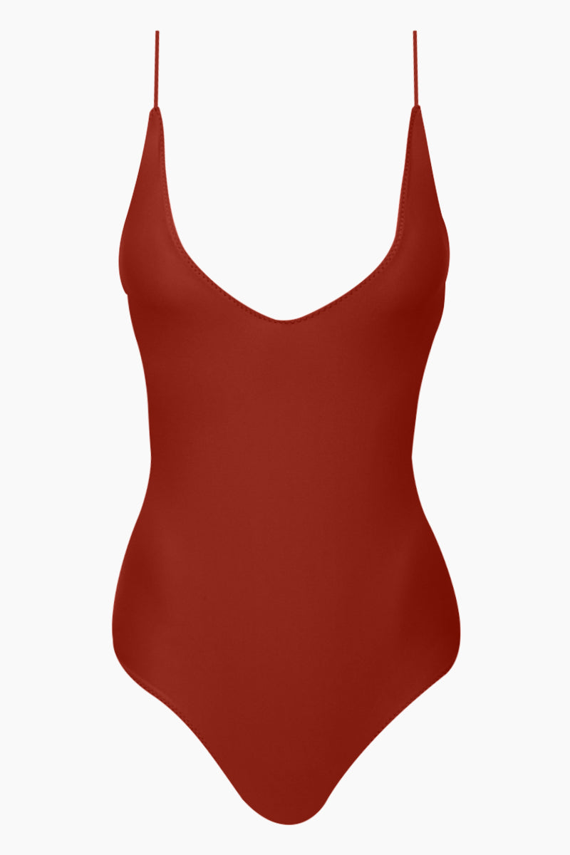 Mickey Plunging One Piece Swimsuit - Canyon