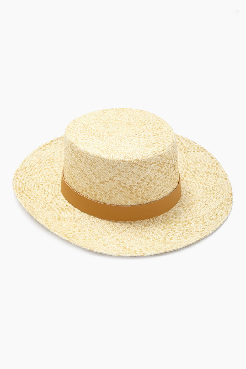 Palenque Straw Boater Hat - Natural/Tan