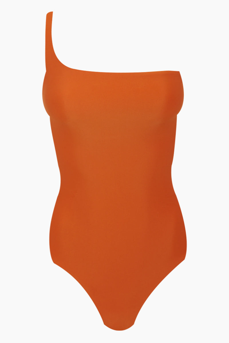 Apex One Shoulder One Piece Swimsuit - Amber