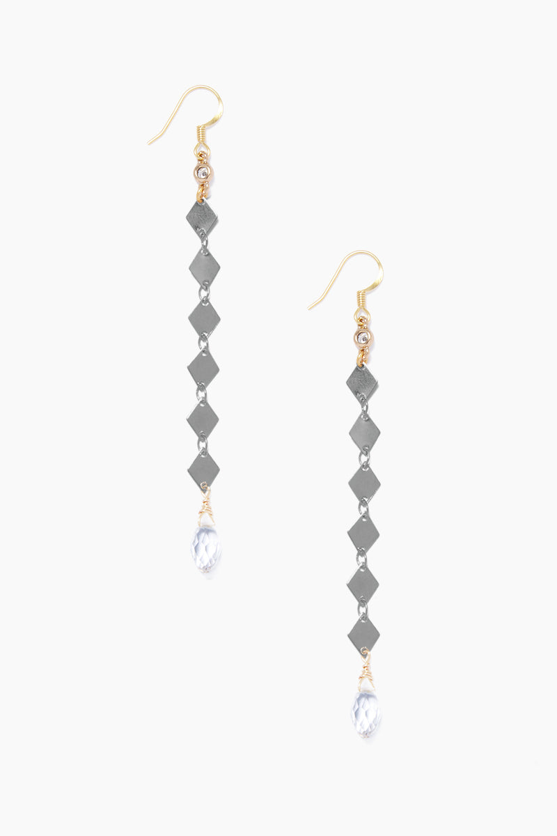 Fay Earrings - Gunmetal
