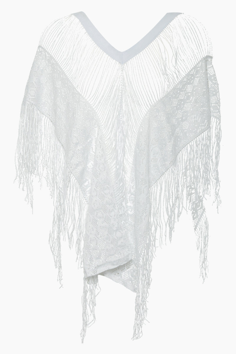 Floppy Laced Cover Up - White