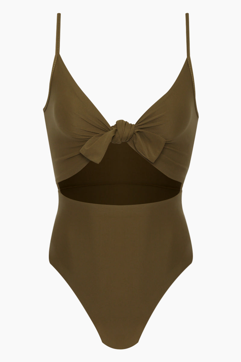 191bc1eae1 REVERSE Elora Front Cut Out One Piece Swimsuit - Olive - undefined undefined  ...